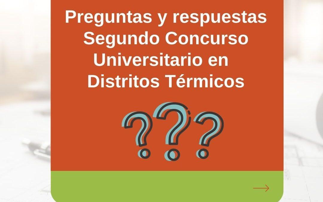 Preguntas y respuestas recibidas sobre el segundo concurso universitario en distritos térmicos